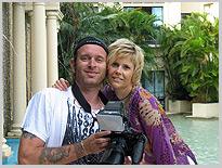 Und noch ein Erinnerungsfoto, Dschungel-Camp, Michaela Schaffrath, Schauspielerin, Moderatorin, Australien, Internet, Website, Bilder, Eindrücke