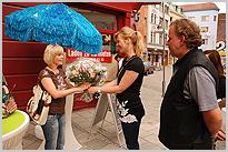 Marienhof, TV-Serie, Dreh, Schauspielerin, Kamera, Internet, Website, Spaß, Michaela Schaffrath, Schnappschuss