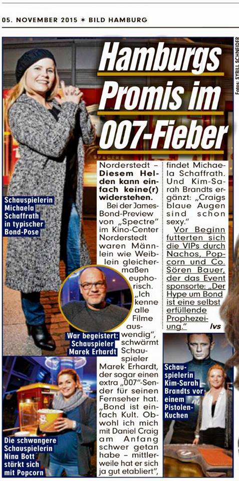 News, Michaela Schaffrath, Schauspielerin, Moderatorin, Internet, Bild, Hamburg, Kino, 007, James Bond