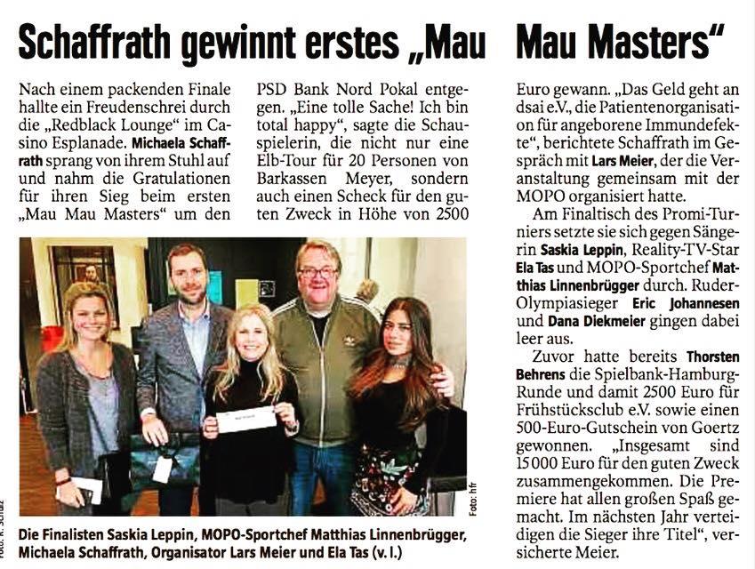 Michaela Schaffrath Mau Mau Hamburger Morgenpost