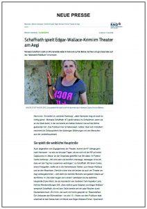 Michaela Schaffrath Neue presse Mai 2018