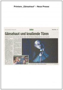 Michaela Schaffrath Neue Presse Gänsehaut