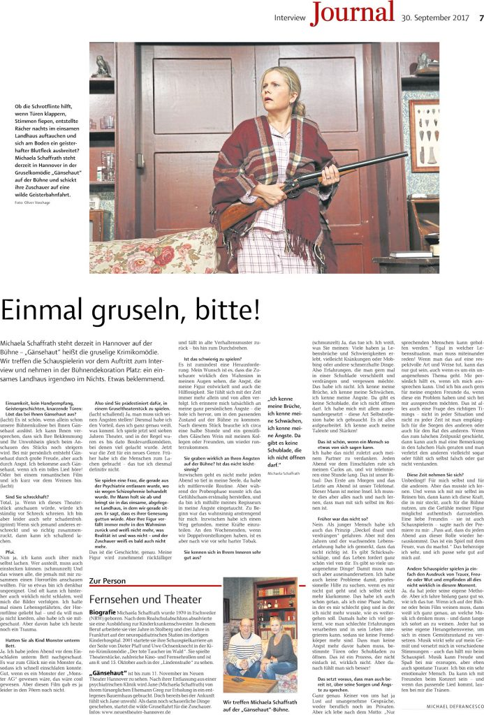 Michaela Schaffrath Journal Gänsehaut